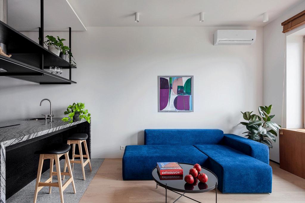 thiết kế nội thất căn hộ 1 phòng ngủ 40m2