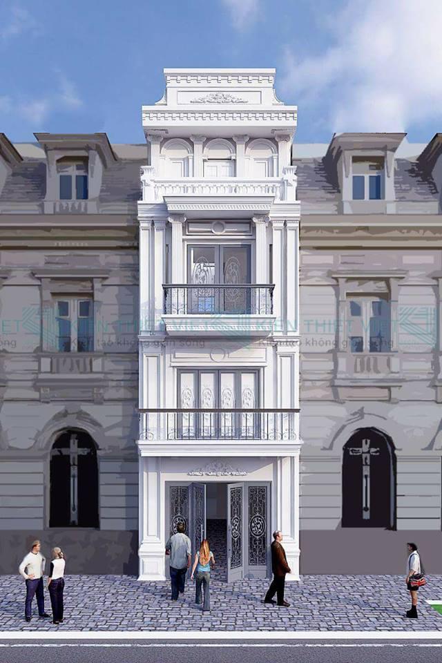 phố 4 tầng phong cách tân cổ điển