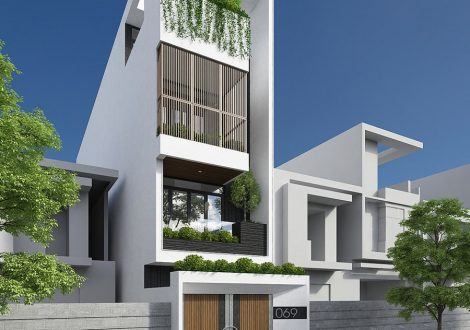mẫu nhà phố 3 tầng 1