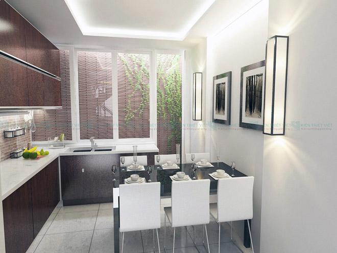 phòng bếp nhà ống 4 tầng 52 m2