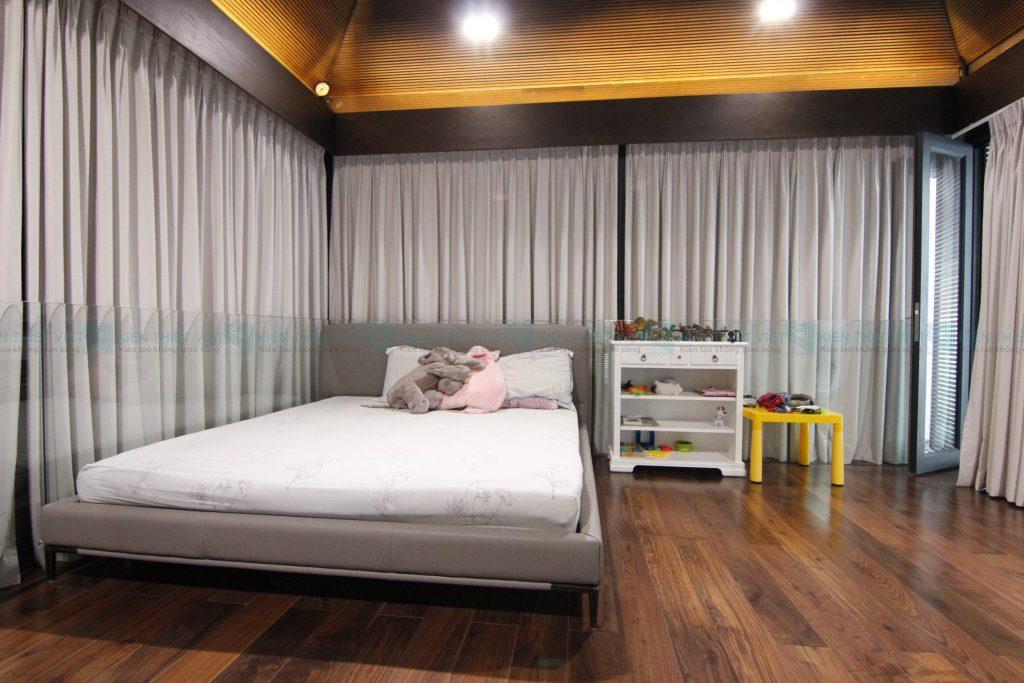 phòng ngủ Thiết kế thi công biệt thự hiện đại