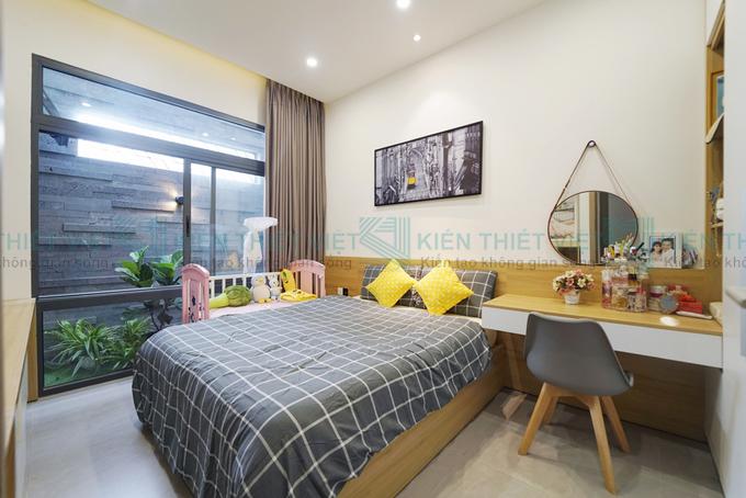 Phòng ngủ thiết kế nhà phố 2 tầng 750 triệu