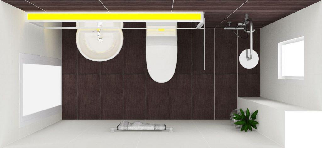 Phòng tắm xây nhà 3 tầng 900 triệu