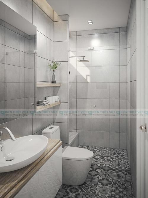 phòng tắm 2 nhà phố 3 tầng 2 mặt tiền