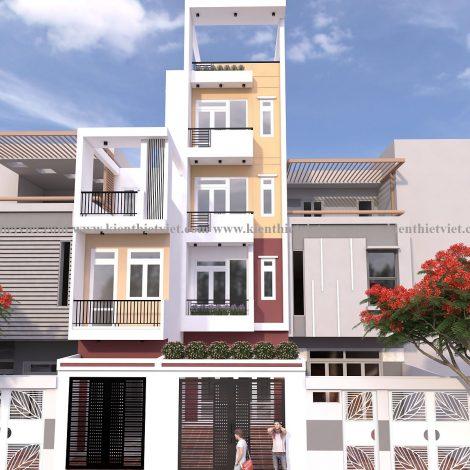Nhà phố 4 tầng 1 tum