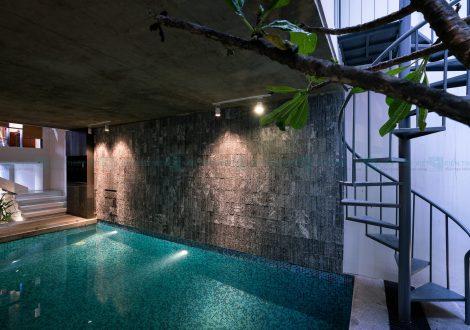 thiết kế nhà phố có hồ bơi