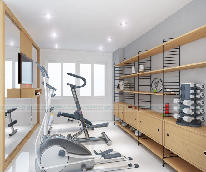 Phòng thể dục NHÀ PHỐ 3 TẦNG 140 m2