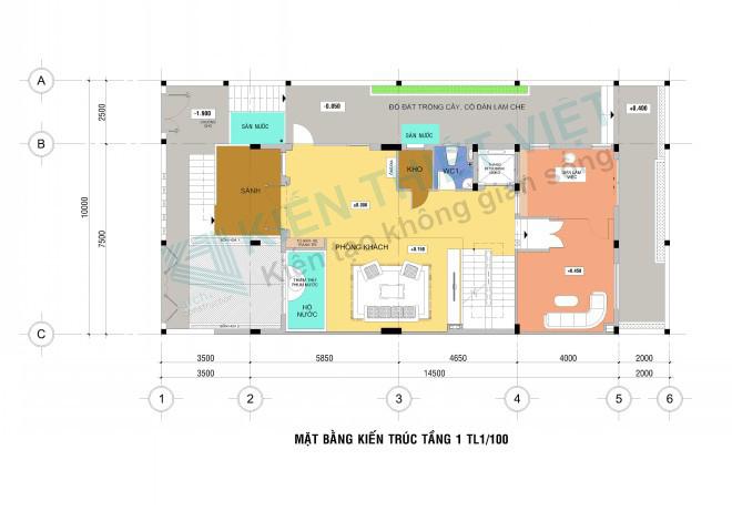 tầng 1 NHÀ PHỐ 3 TẦNG 140 m2