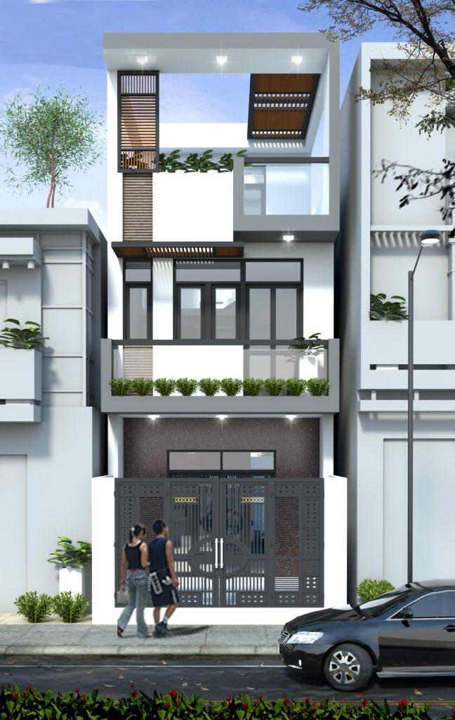 chi phí xây nhà 1 trệt 1 lầu sân thượng