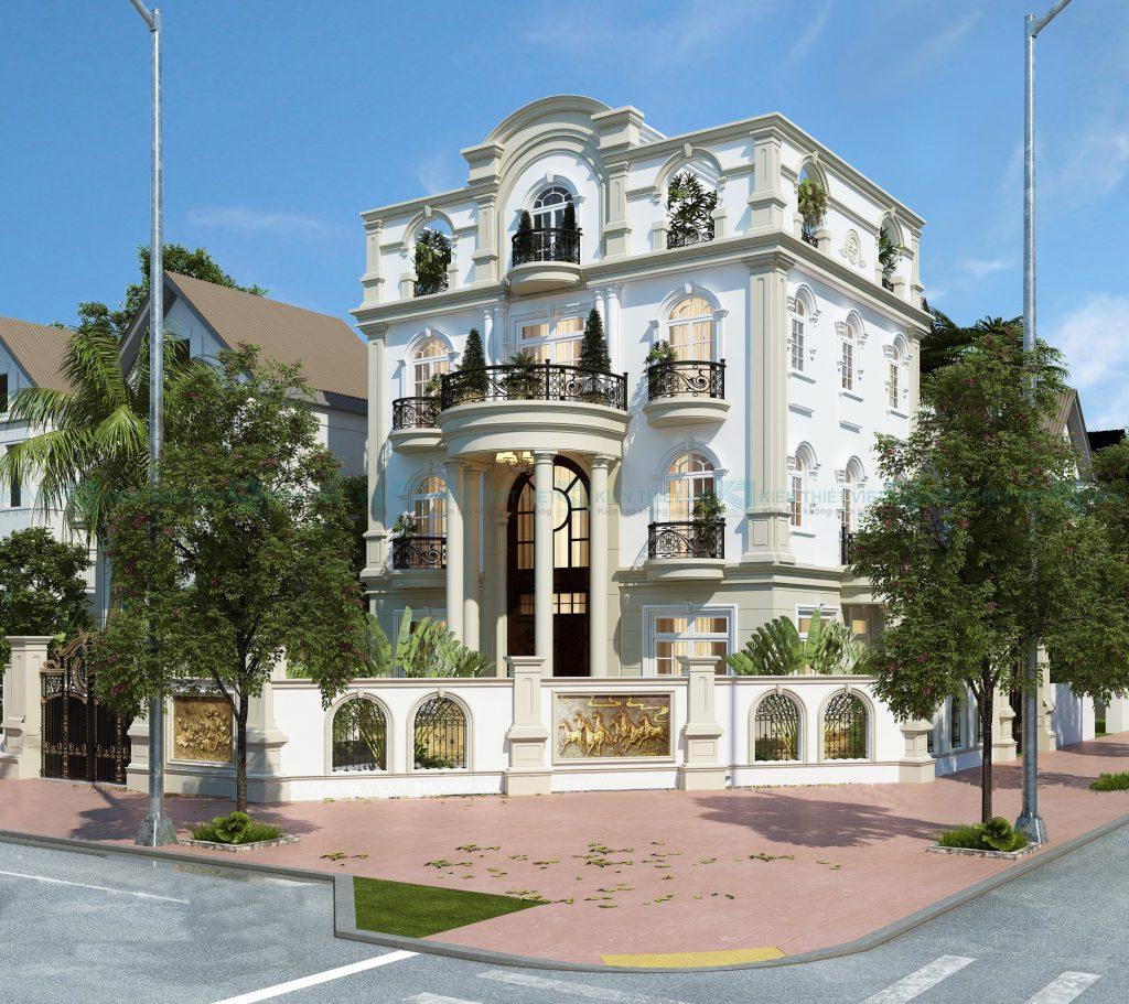 thiết kế biệt thự cổ điển 3 tầng 2