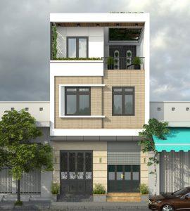 mẫu nhà phố 3 tầng 2