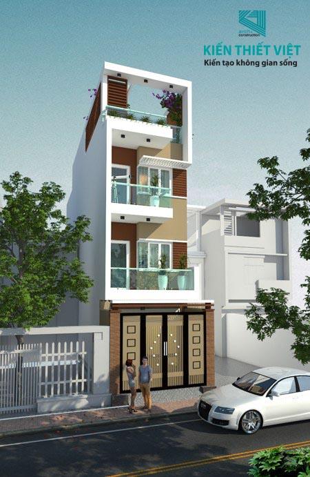 xây nhà 4 tầng trọn gói