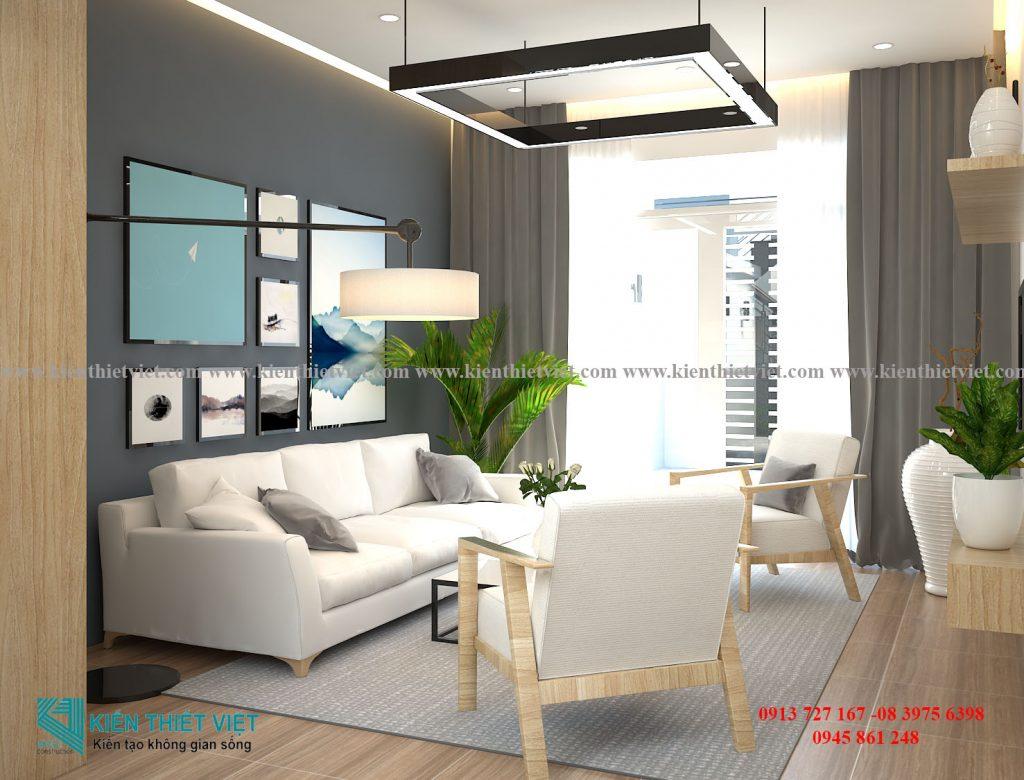 Phòng khách NHÀ PHỐ 4 TẦNG 1 TUM 80 m2