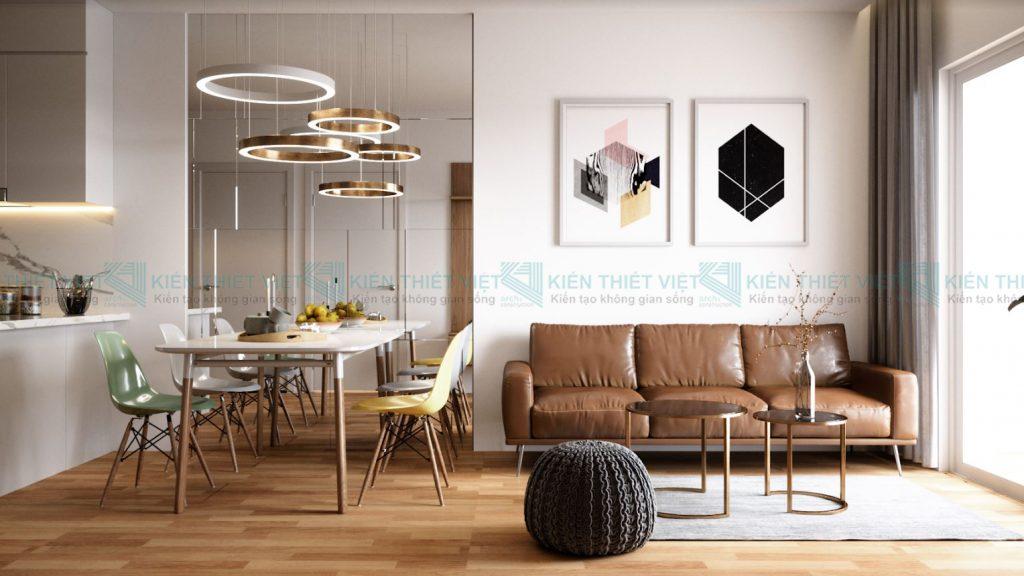 Thiết kế nội thất căn hộ 70 m2 2