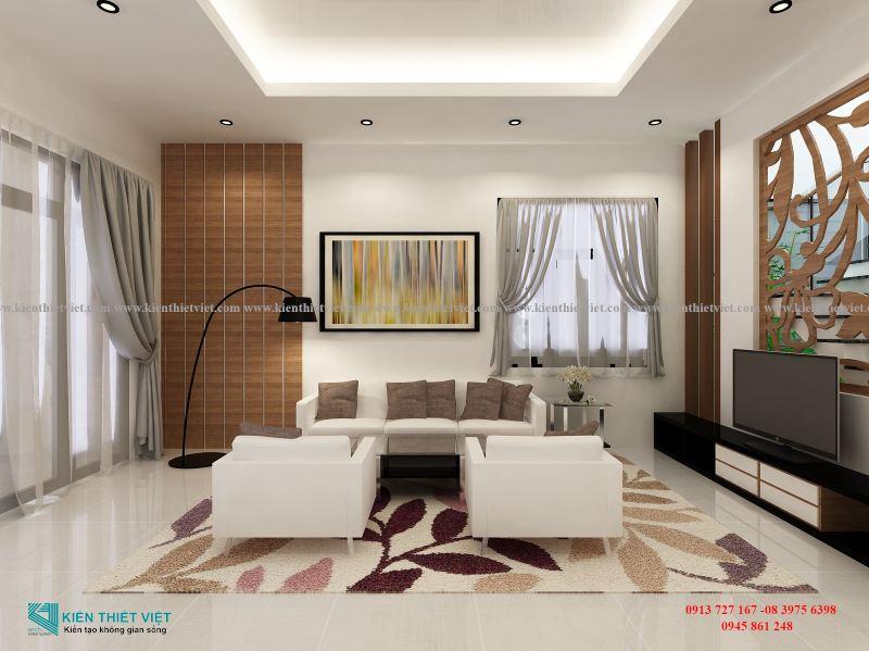 Phòng khách 2 BIỆT THỰ NHÀ VƯỜN 2 TẦNG