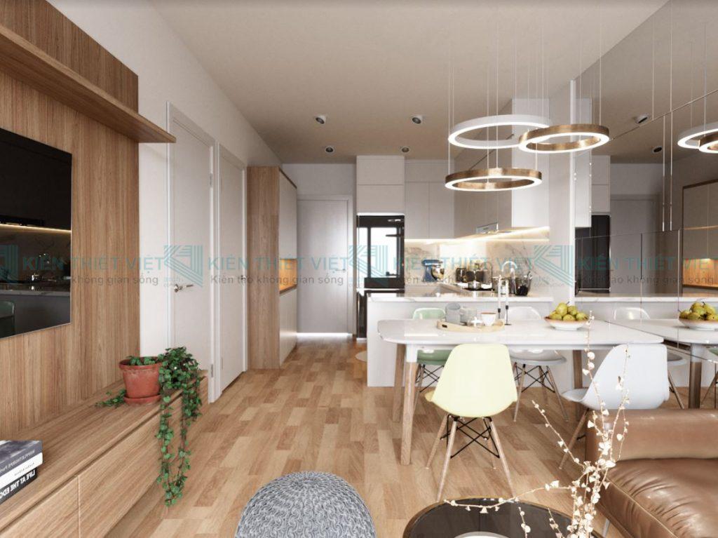 Thiết kế nội thất căn hộ 70 m2 3