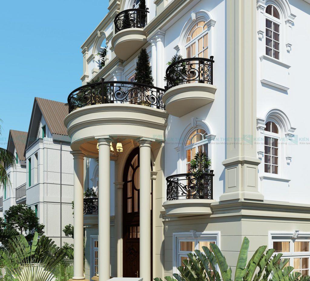 thiết kế biệt thự cổ điển 3 tầng 4