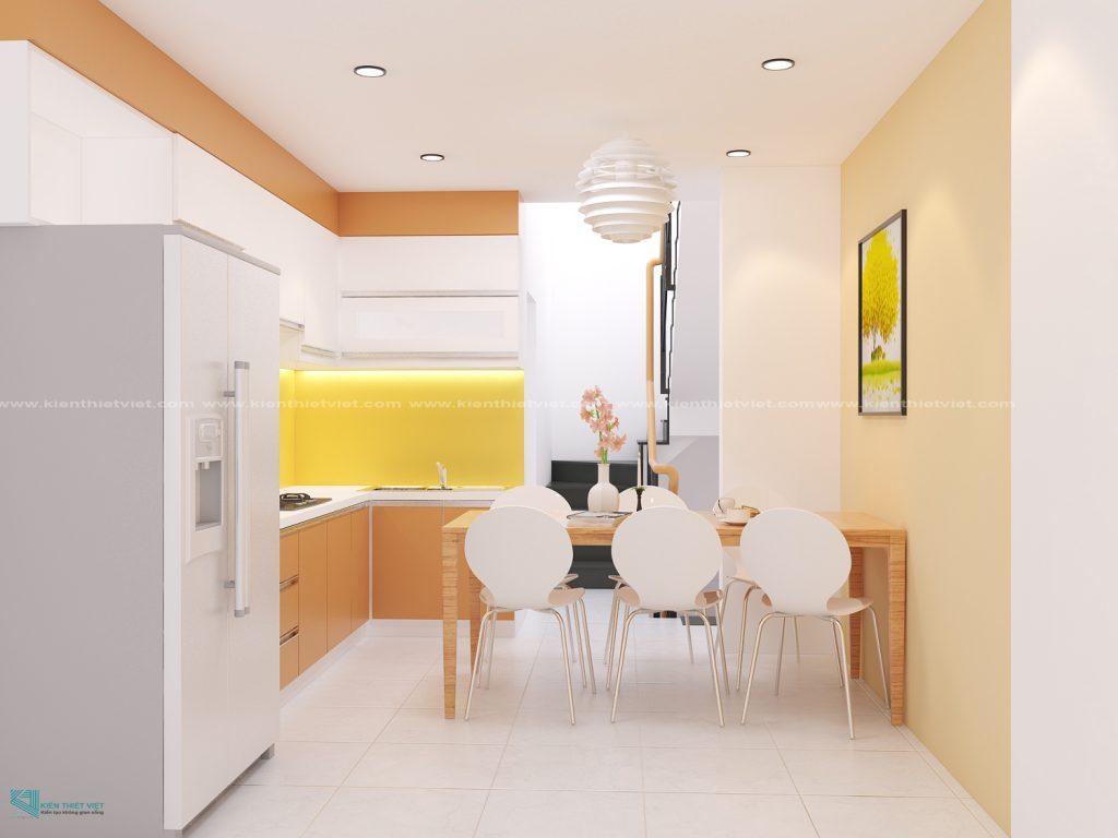 Thiết kế phòng bếp nhà 3 tầng 100 m2