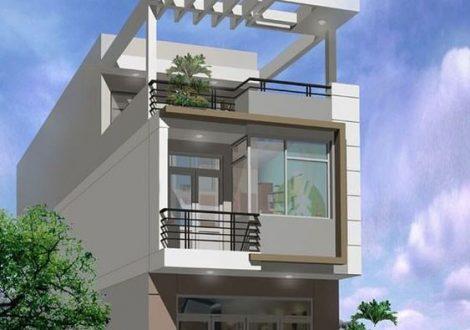 nhà 1 trệt 1 lầu sân thượng