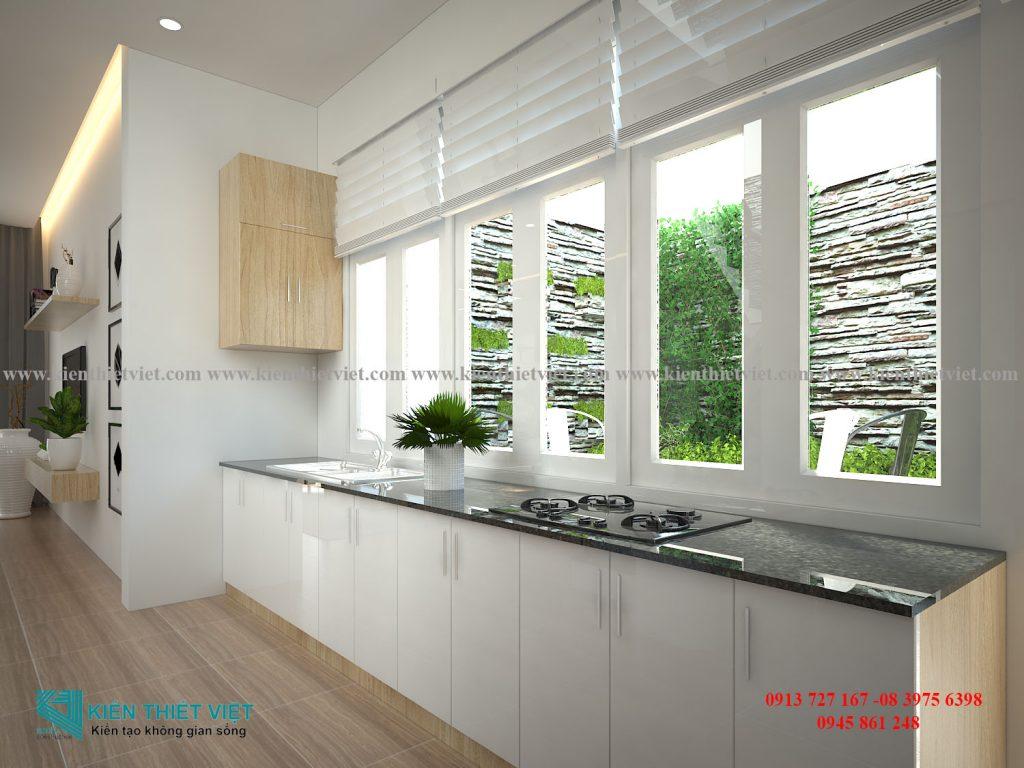 Phòng bếp NHÀ PHỐ 4 TẦNG 1 TUM 80 m2