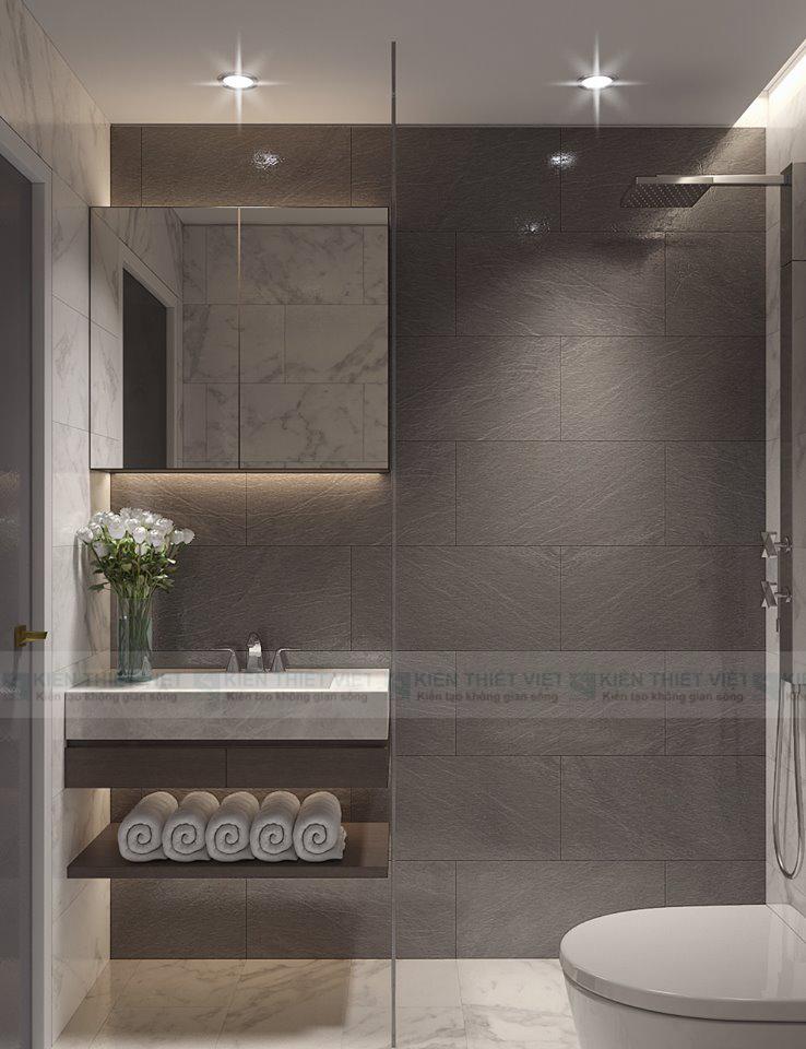 Phòng tắm với nội thất hiện đại