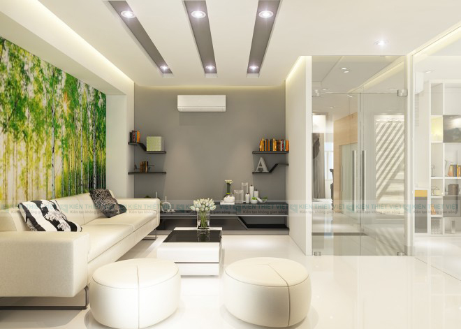 Phòng khách NHÀ PHỐ 3 TẦNG 140 m2