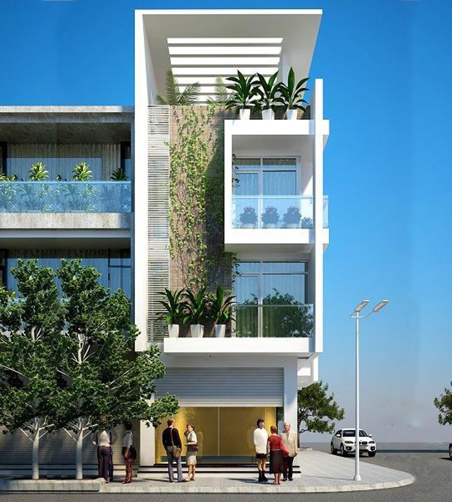 mẫu nhà phố 3 tầng 5