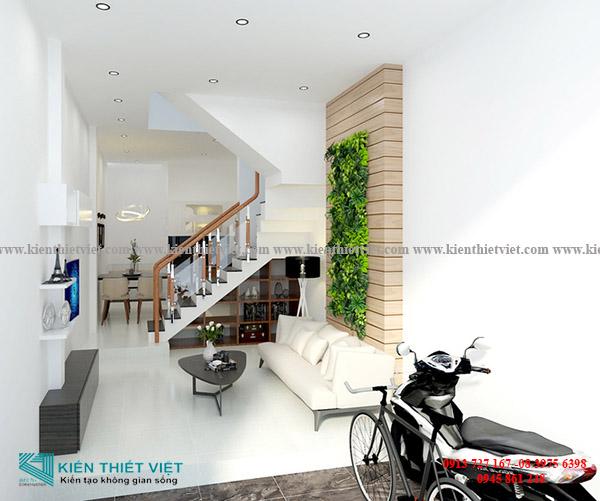 Phòng khách NHÀ 2,5 TẦNG 38 m2 Ở SÀI GÒN VỚI 640 TRIỆU