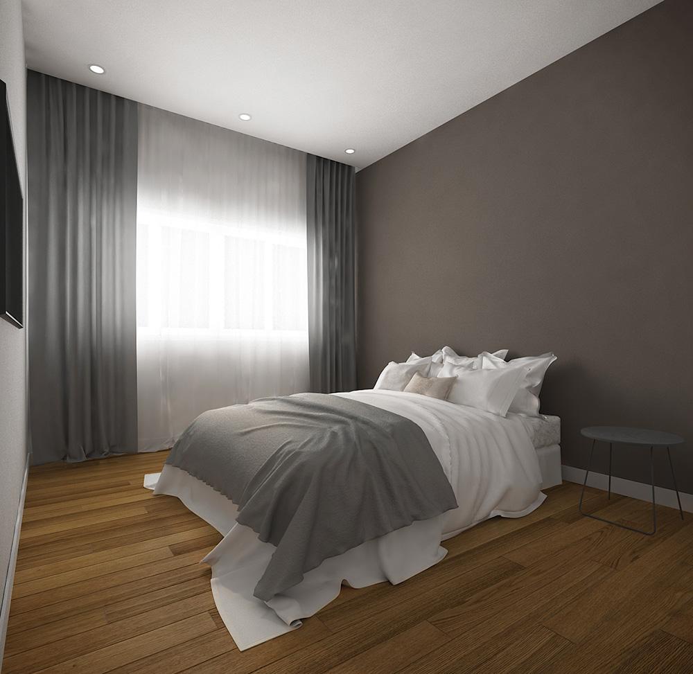Phòng ngủ nội thất căn hộ chung cư