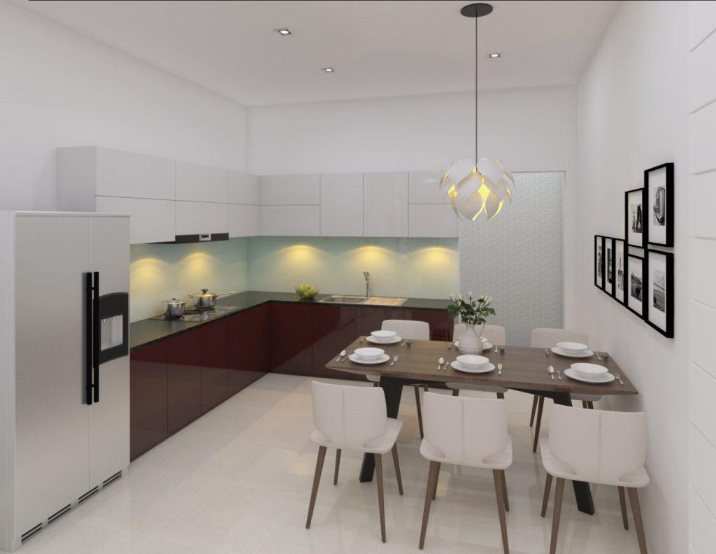 Phòng bếp xây nhà 3 tầng 900 triệu