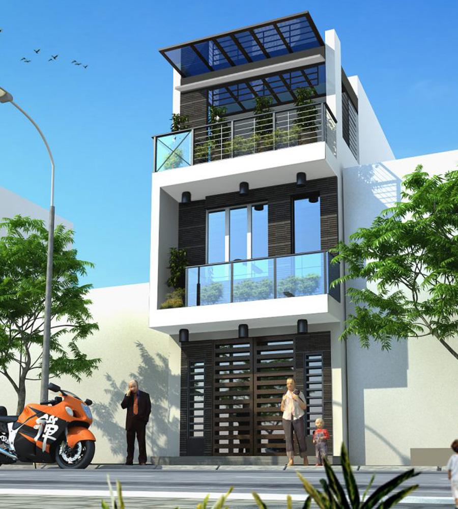 mẫu nhà phố 3 tầng 6