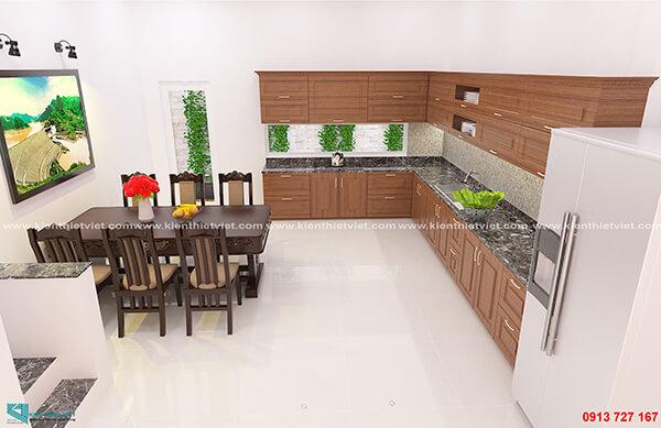 Phòng bếp nhà 3 tầng