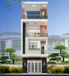 mẫu nhà phố 3 tầng 7