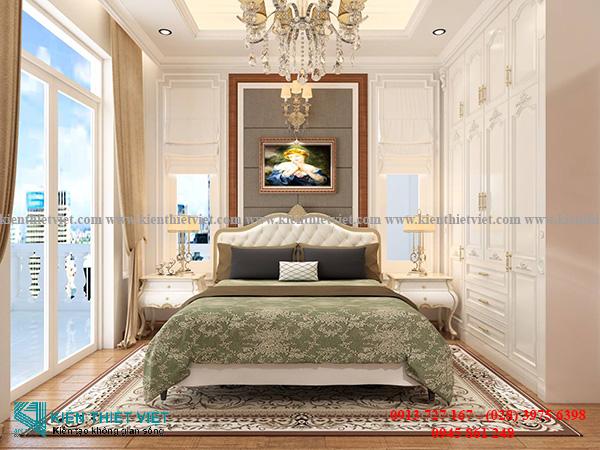 phòng ngủ Mẫu biệt thự tân cổ điển 3 tầng