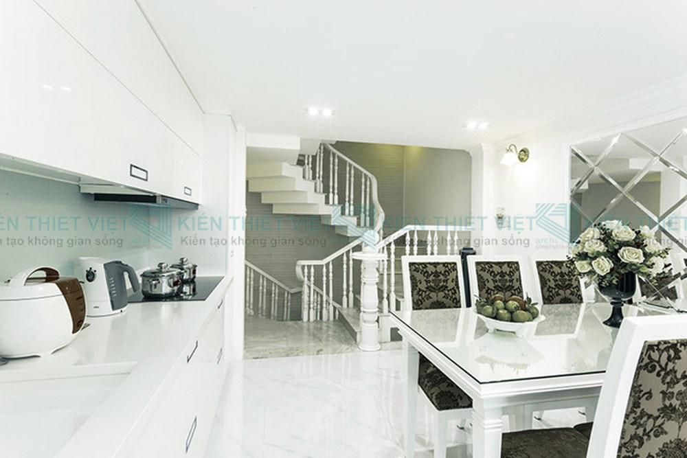 Thiết kế nội thất nhà phố 3 tầng phòng bếp