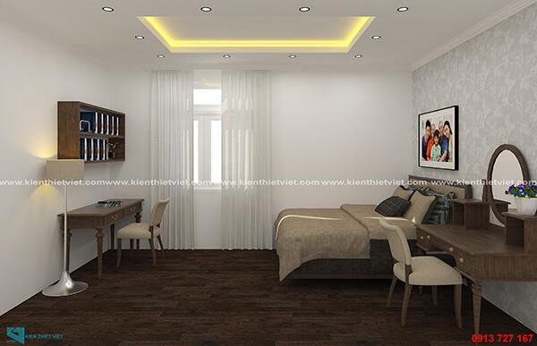 Phòng ngủ master nhà 3 tầng