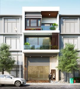 mẫu nhà phố 3 tầng 8