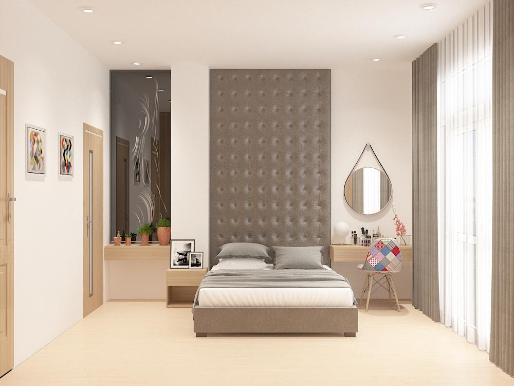 Thiết kế nội thất phòng ngủ nhà 2 tầng