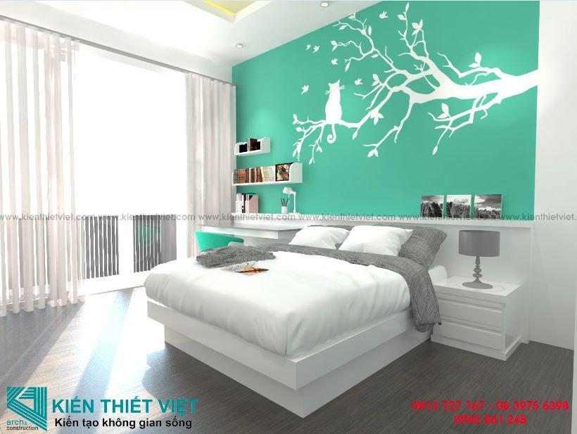 Phòng ngủ nhà 4 tầng mái bằng