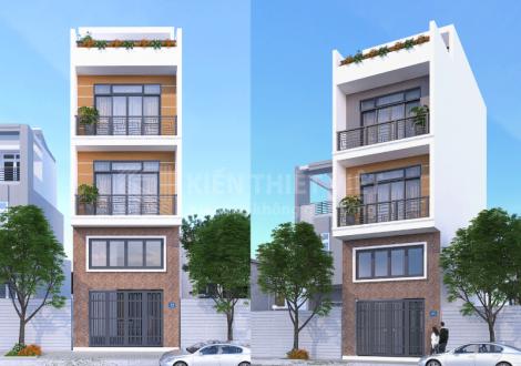 thiết kế nhà phố 1 trệt 1 lửng 2 lầu