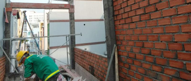 xây-tường-bao thi công phần thô