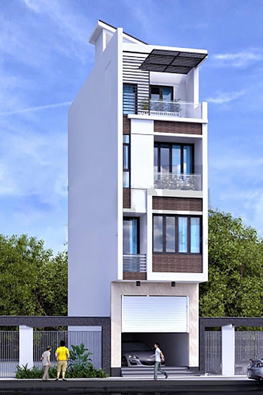 mẫu nhà phố 4 tầng 1