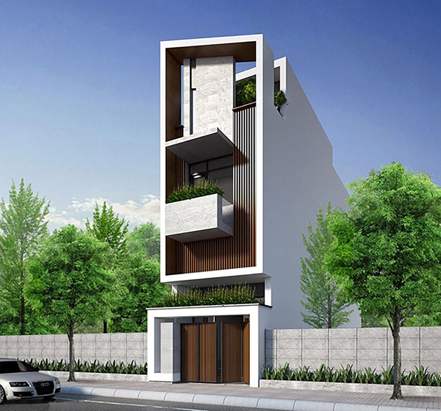 mẫu nhà phố 4 tầng 10