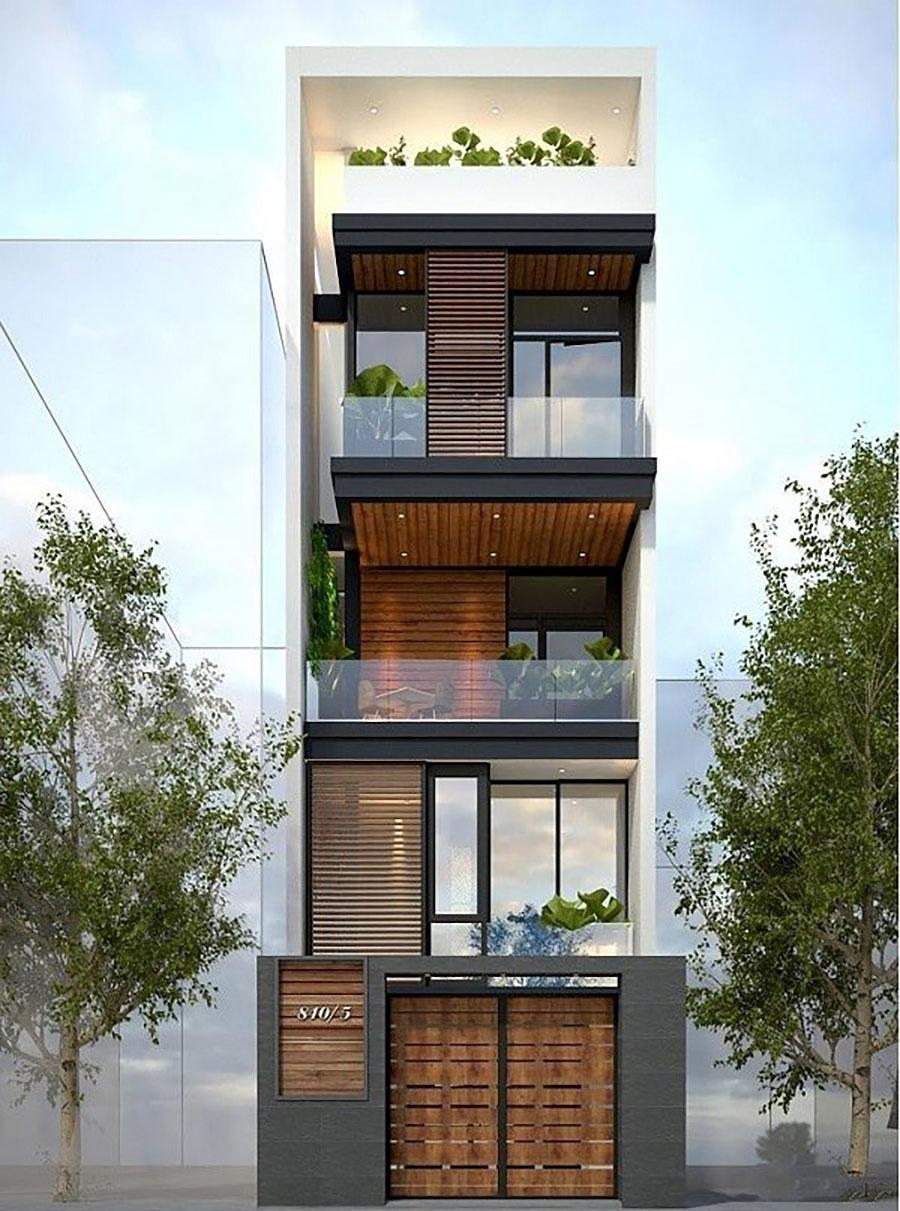 mẫu nhà phố 4 tầng 11