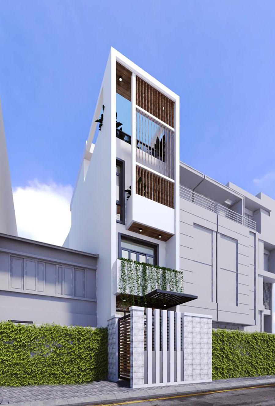 mẫu nhà phố 4 tầng 12
