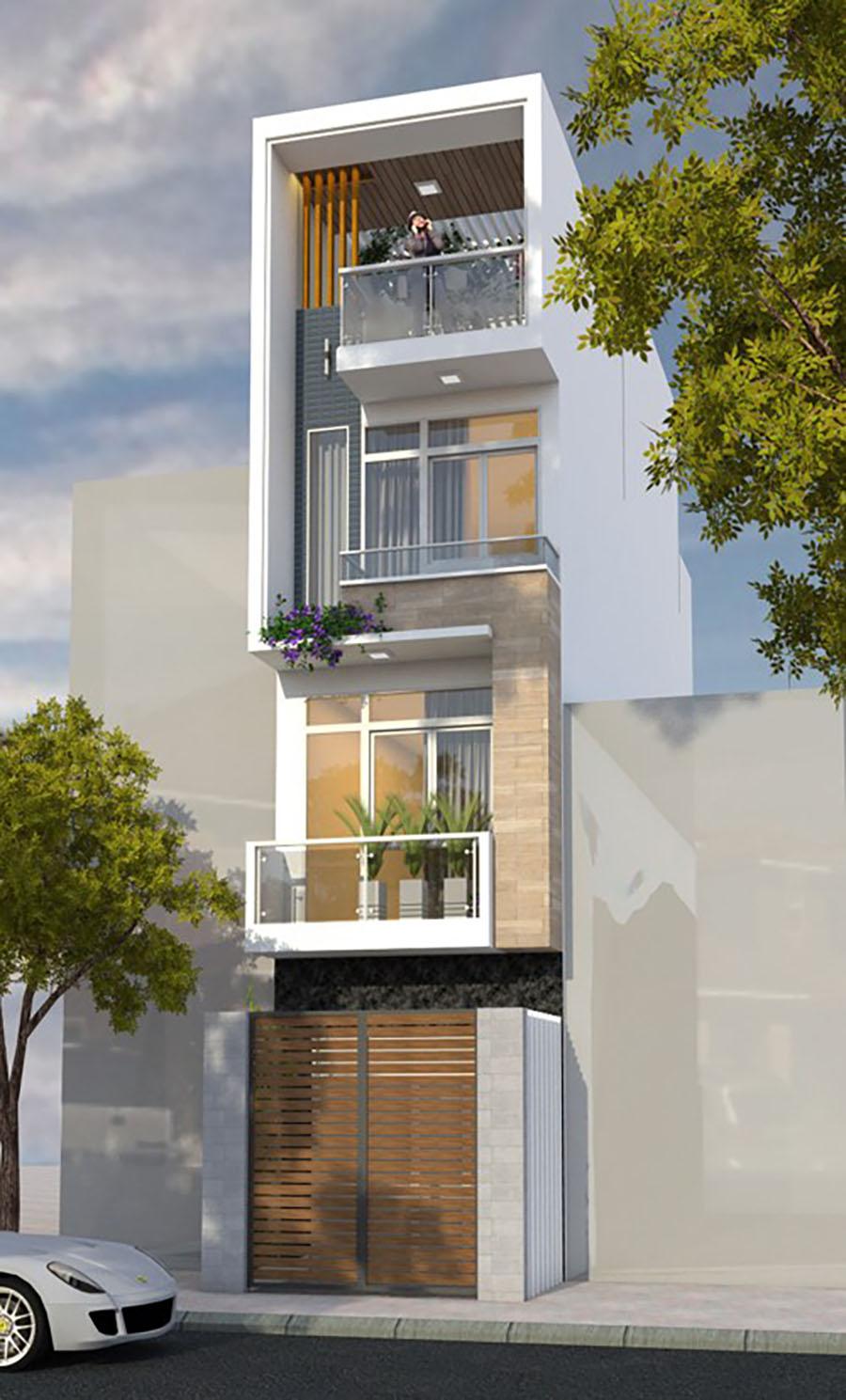 mẫu nhà phố 4 tầng 15
