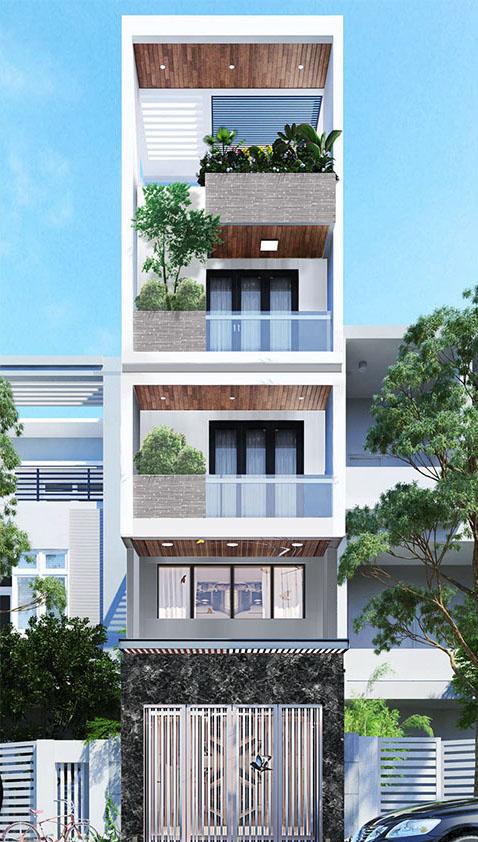 mẫu nhà phố 4 tầng 17