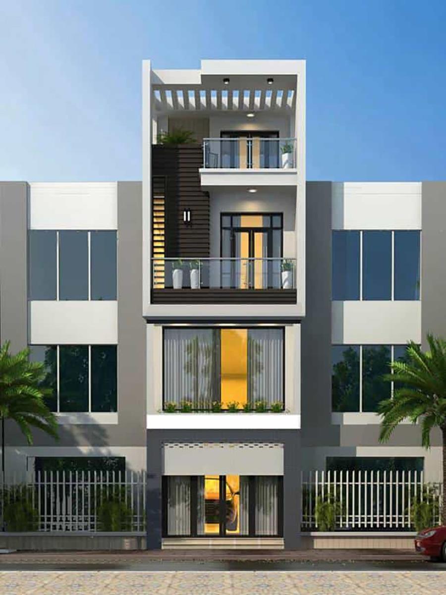 mẫu nhà phố 4 tầng 18