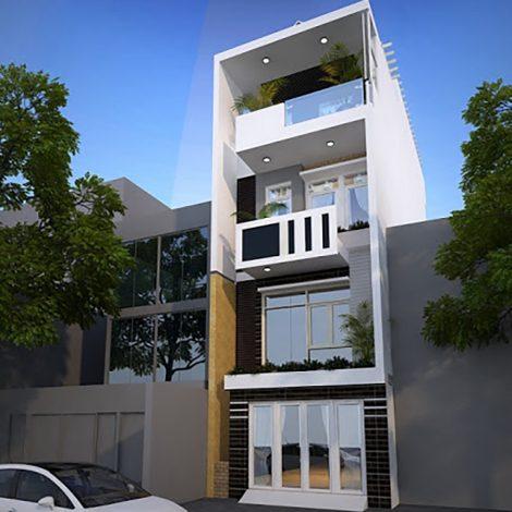 mẫu nhà phố 4 tầng 2