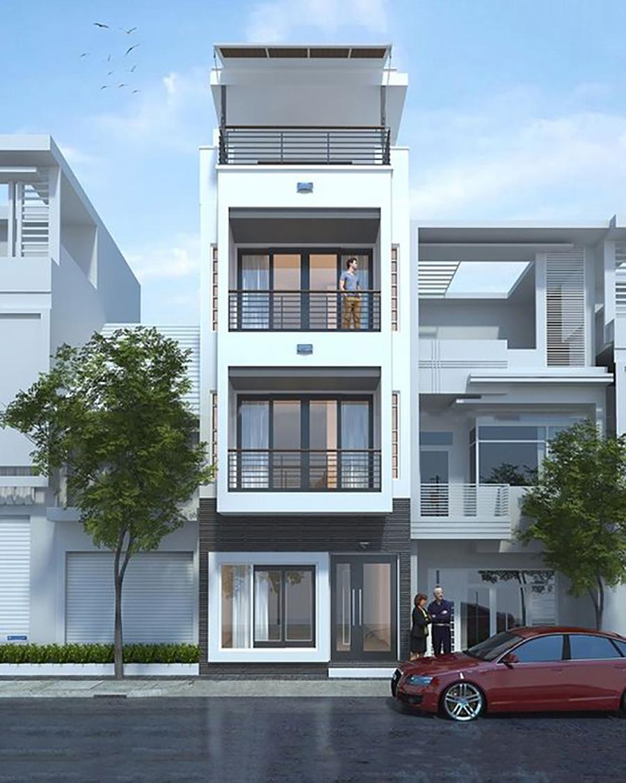 mẫu nhà phố 4 tầng 20